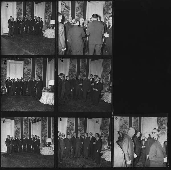 Il Presidente della Repubblica Antonio Segni riceve in udienza Efisio Corrias, Presidente della Giunta regionale sarda, con gli assessori