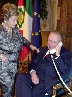 Il Presidente Ciampi riceve gli auguri dal Santo Padre.
