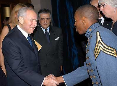 Il Presidente Ciampi al suo arrivo alla Fondazione Marshall.