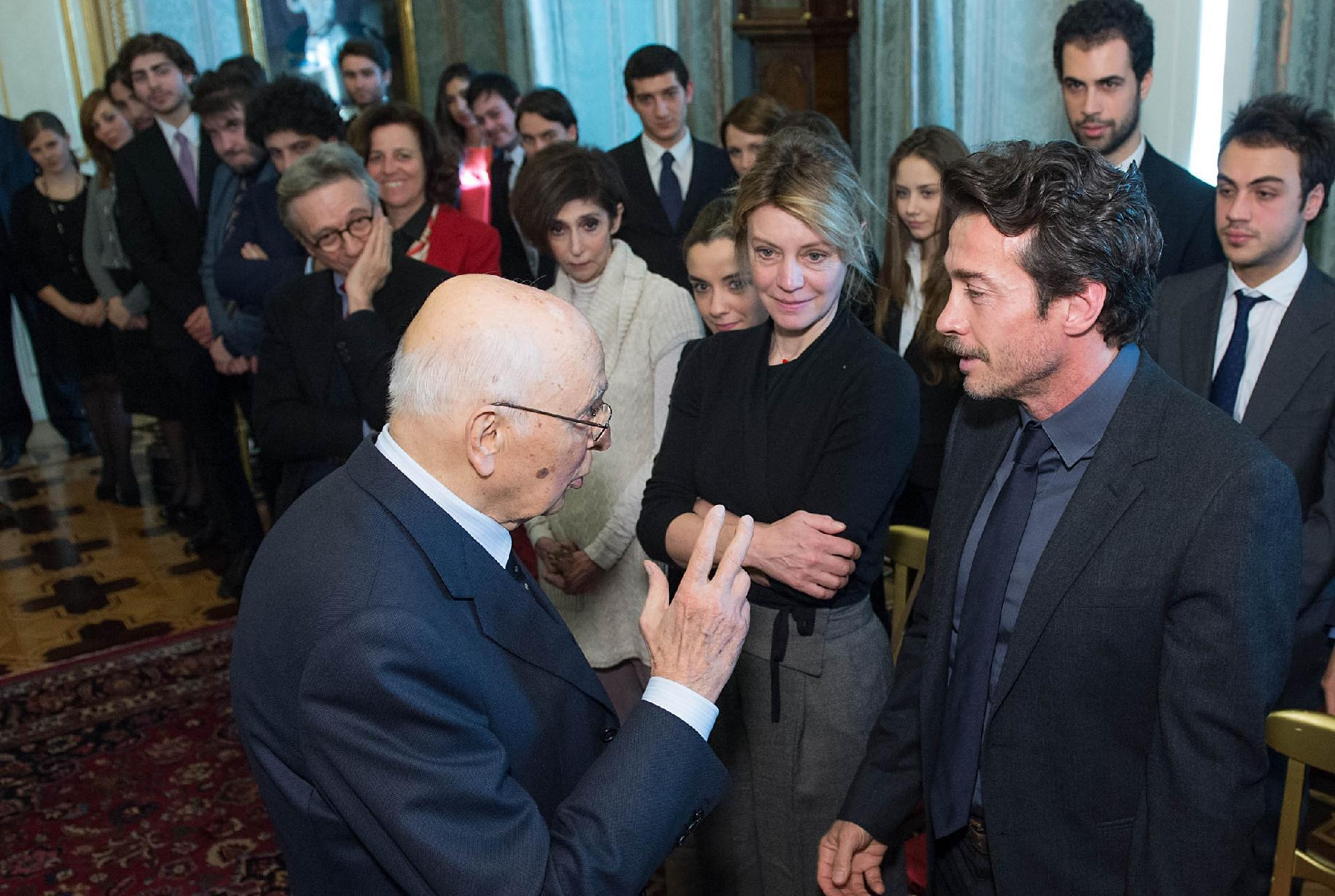 Paola Senatore il presidente giorgio napolitano al termine dell'incontro