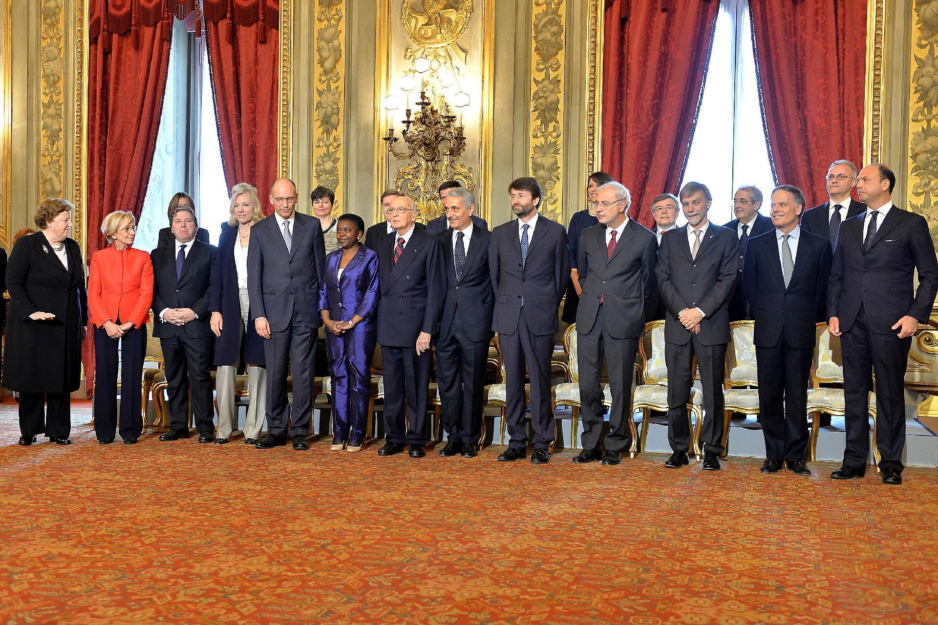 ll Presidente della Repubblica Giorgio Napolitano con i nuovi Ministri del  Governo Letta - Foto dei Presidenti della Repubblica - Portale storico  della Presidenza della Repubblica