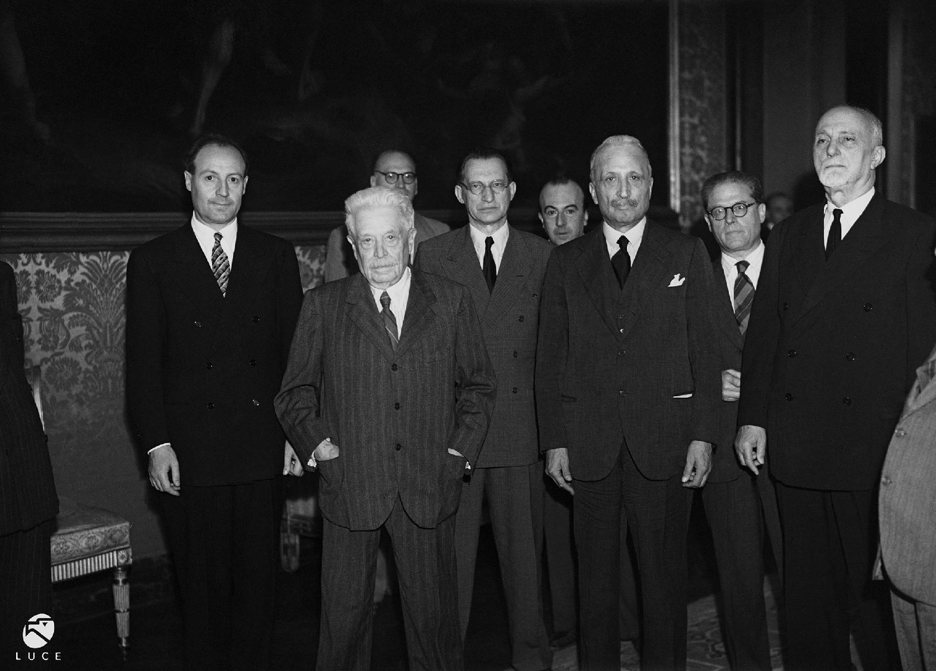 Il Capo Provvisorio dello Stato Enrico De Nicola: cerimonia di giuramento