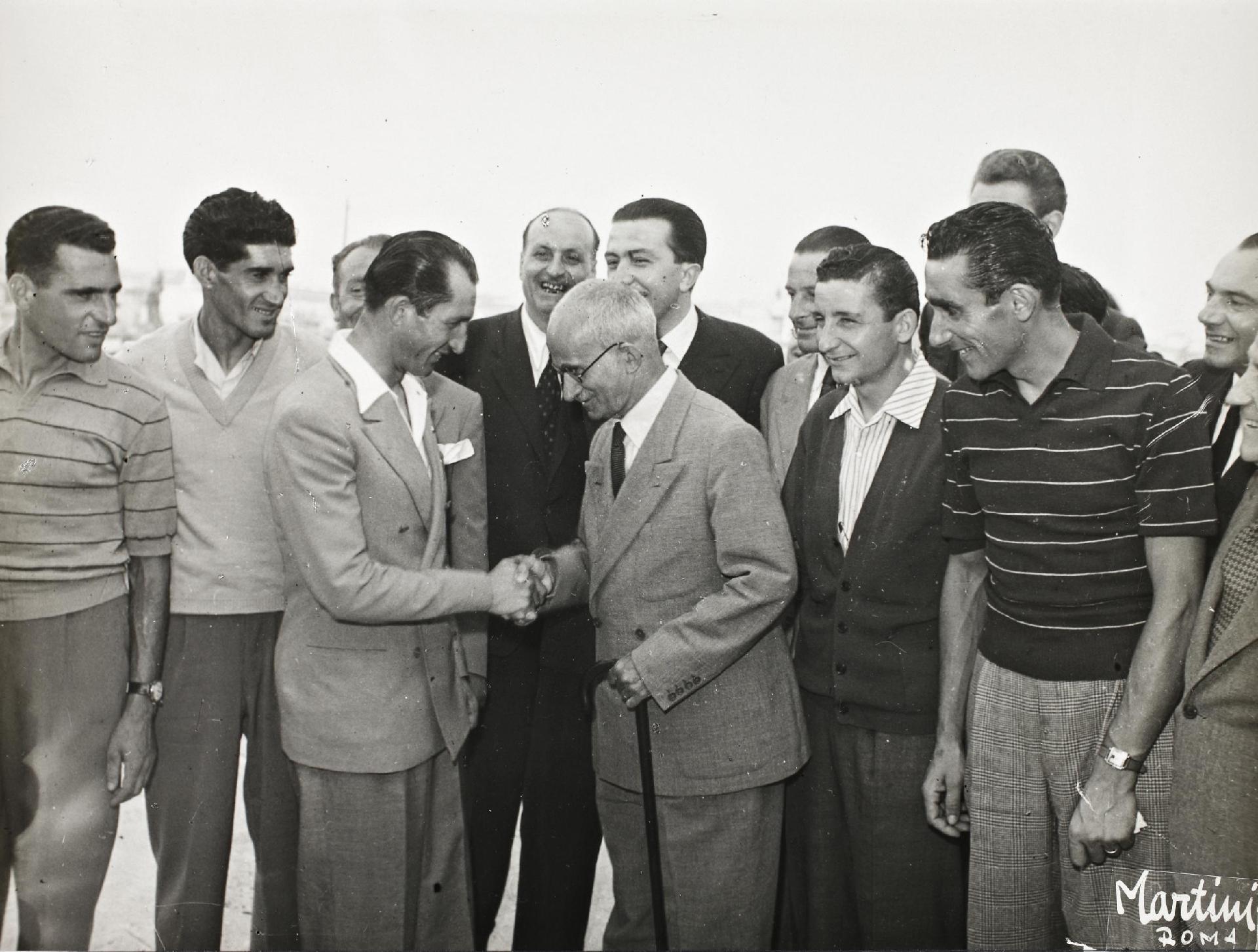Il Presidente della Repubblica Luigi Einaudi incontra Gino Bartali