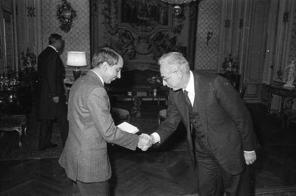 Il Presidente della Repubblica Francesco Cossiga riceve ...
