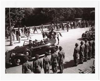 Festa del Corpo della Guardia di Finanza: consegna delle medaglie di argento e bronzo al Valor Militare alla Bandiera del Corpo e rivista delle truppe, Roma, Villa Glori