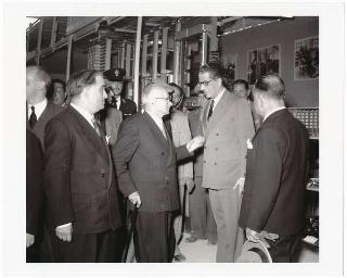 Il Presidente della Repubblica Luigi Einaudi alla III Mostra Campionaria di Roma, Piazzale Clodio