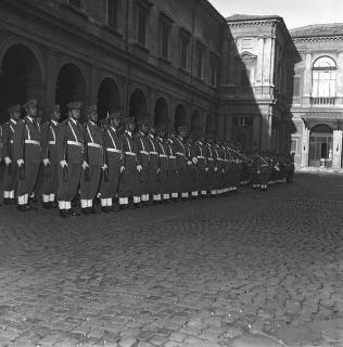 Il Presidente della Repubblica Giovanni Gronchi alla cerimonia di Consegna dello Speron d'oro