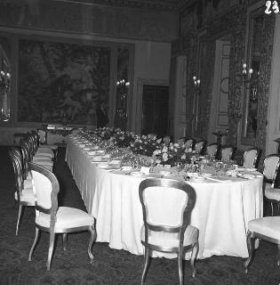 Colazione in onore del primo Ministro del Belgio Théo J.A. Lefevre e del vicePresidente del Consiglio dei ministri e Ministro degli affari esteri Paul-Henri Spaak, Sala delle bestie