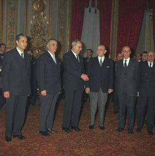 Insediamento al Quirinale del Presidente della Repubblica Giuseppe Saragat