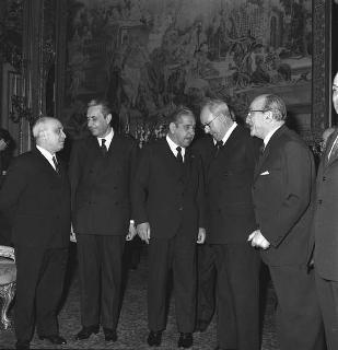 Il Presidente della Repubblica Giuseppe Saragat riceve in visita privata il maresciallo Arthur da Costa e Silva, Presidente eletto della Repubblica degli Stati Uniti del Brasile