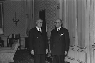 Il Presidente della Repubblica Giuseppe Saragat riceve in udienza Luigi Morandi, Presidente della Federazione delle Associazioni scientifiche e tecniche di Milano