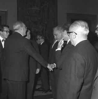 Ricevimento offerto dal Presidente della Repubblica Giuseppe Saragat in onore della visita ufficiale di Sir Harold Wilson,Primo Ministro del Regno Unito di Gran Bretagna ed Irlanda del Nord