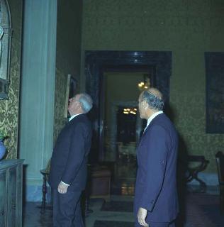 Visita in forma privata del Presidente della Repubblica Giuseppe Saragat al Governatore della Banca d'Italia