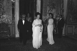 Pranzo in onore della Principessa Shams Pahlavi, sorella dello Scià di Persia offerto dal Presidente della Repubblica Giovanni Leone