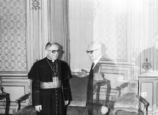 Il Presidente della Repubblica Sandro Pertini riceve la visita ufficiale del Cardinale Ugo Poletti, Vicario Generale di Paolo VI per la città di Roma