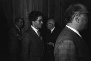 Franco Bruno, presidente dell'AGIS, con i componenti del Consiglio di presidenza e della Consulta giuridica dell'Associazione