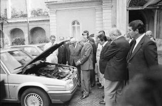 """Presentazione della nuova autovettura Alfa Romeo """"Alfa 90"""""""