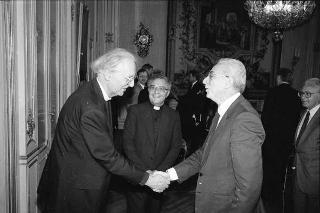 Incontro del Presidente della Repubblica Francesco Cossiga con  i partecipanti al Congresso internazionale per il XVI centenario della conversione di S. Agostino