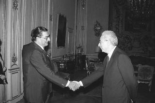 Incontro del Presidente della Repubblica Francesco Cossiga con Werner Maihofer, presidente dell'Istituto Universitario Europeo di Firenze