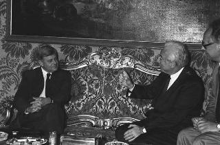Incontro del Presidente della Repubblica Francesco Cossiga con il Presidente della Repubblica di Slovenia Milan Kucan