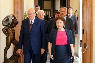 Il Presidente Giorgio Napolitano con la Prof.ssa Paola Carucci Sovrintendente per l'Archivio Storico del Quirinale, in occasione dell'inaugurazione della nuova sede