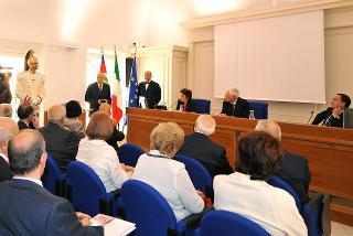 Il Presidente Giorgio Napolitano, durante il suo intervento in occasione dell'inaugurazione della nuova sede dell'Archivio Storico della Presidenza della Repubblica