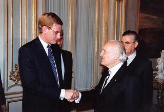 Incontro del Presidente della Repubblica Oscar Luigi Scalfaro con  il Primo Ministro del Regno di Svezia, Carl Bildt