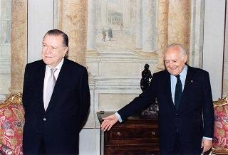 Incontro e successiva colazione in onore del Presidente della Repubblica del Venezuela, Sua Eccellenza Rafael Caldera