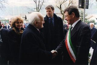 Visita del Presidente della Repubblica Oscar Luigi Scalfaro alla città di Bolzano
