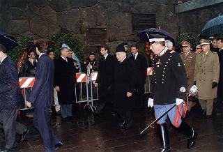 Intervento del Presidente della Repubblica alla cerimonia commemorativa del 53° anniversario dell'eccidio delle Fosse Ardeatine a Roma