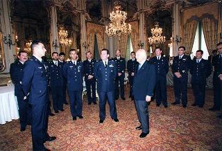 Gen. sq. a. Mario Arpino, Capo di Stato maggiore dell'Aeronautica, con la Pattuglia acrobatica nazionale
