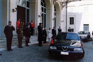 Visita ufficiale in Italia del Presidente della Repubblica Kyrghyza Askar Akayev e signora