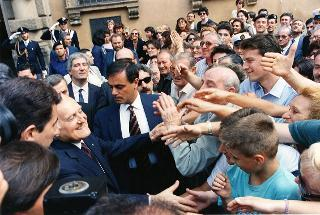 Visita, in forma privata, del Presidente della Repubblica Repubblica Oscar Luigi Scalfaro alla città di Novara (8-10 luglio 1992)