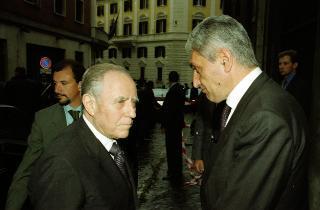 Intervento del Presidente della Repubblica ai funerali dell'avv. Massimo D'Antona.