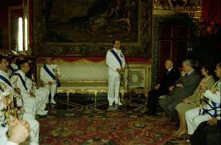 Incontro del Presidente della Repubblica Carlo Azeglio Ciampi con il  Capo di Stato Maggiore della Marina l'Ammiraglio di Squadra Umberto Guarnieri  in occasione della festa della Marina Militare.