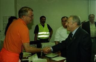 Il Presidente della Repubblica Carlo Azeglio Ciampi in visita ufficiale in Albania