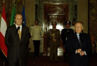 Incontro del Presidente della Repubblica Carlo Azeglio Ciampi con il Presidente Federale della Repubblica d'Austria, Sua Eccellenza Thomas Klestil