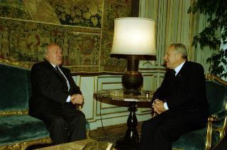 Incontro con il Presidente della Repubblica di Malta, Signor Guido De Marco