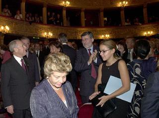 """Il Presidente Ciampi al Teatro Argentina in occasione della prima del film """"Placido Rizzotto"""" di Pasquale Scimeca."""