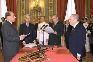 Giuramento del Presidente del Consiglio dei ministri Silvio Berlusconi