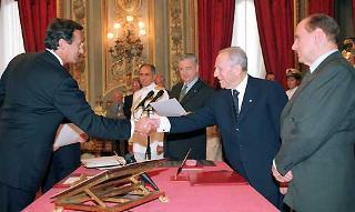 Giuramento del Vice Presidente del Consiglio dei ministri Gianfranco Fini.