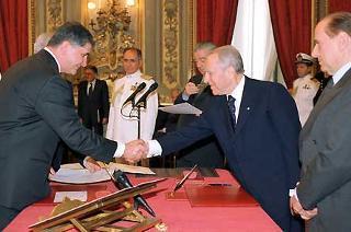 Giuramento del Ministro per le Politiche Comunitarie Rocco Buttiglione.