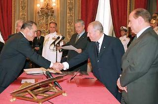 Giuramento del Ministro per l'Attuazione del programma di governo Giuseppe Pisanu.