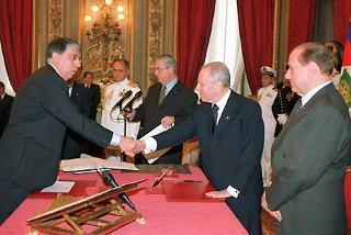 Giuramento del Ministro per i Rapporti con il Parlamento Carlo Giovanardi.