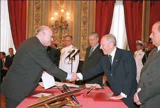 Giuramento del Ministro degli Affari Esteri Renato Ruggiero.
