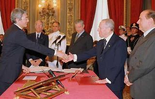 Giuramento del Ministro della Giustizia Roberto Castelli.