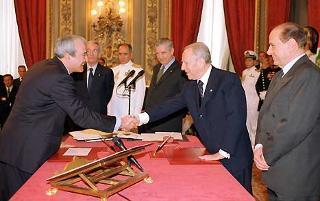 Giuramento del Ministro della Difesa Antonio Martino.
