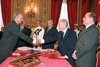 Giuramento del Ministro delle Attività Produttive Antonio Marzano.