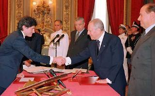 Giuramento del Ministro delle Politiche Agricole e Forestali Giovanni Alemanno.