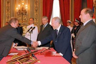 Giuramento del Ministro del Lavoro e delle Politiche Sociali Roberto Maroni.